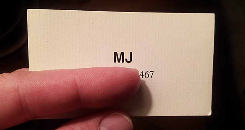 MJ Business card